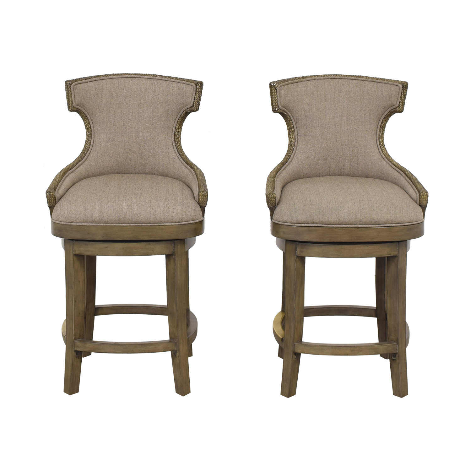 PI Inc Upholstered Swivel Bar Stools for sale