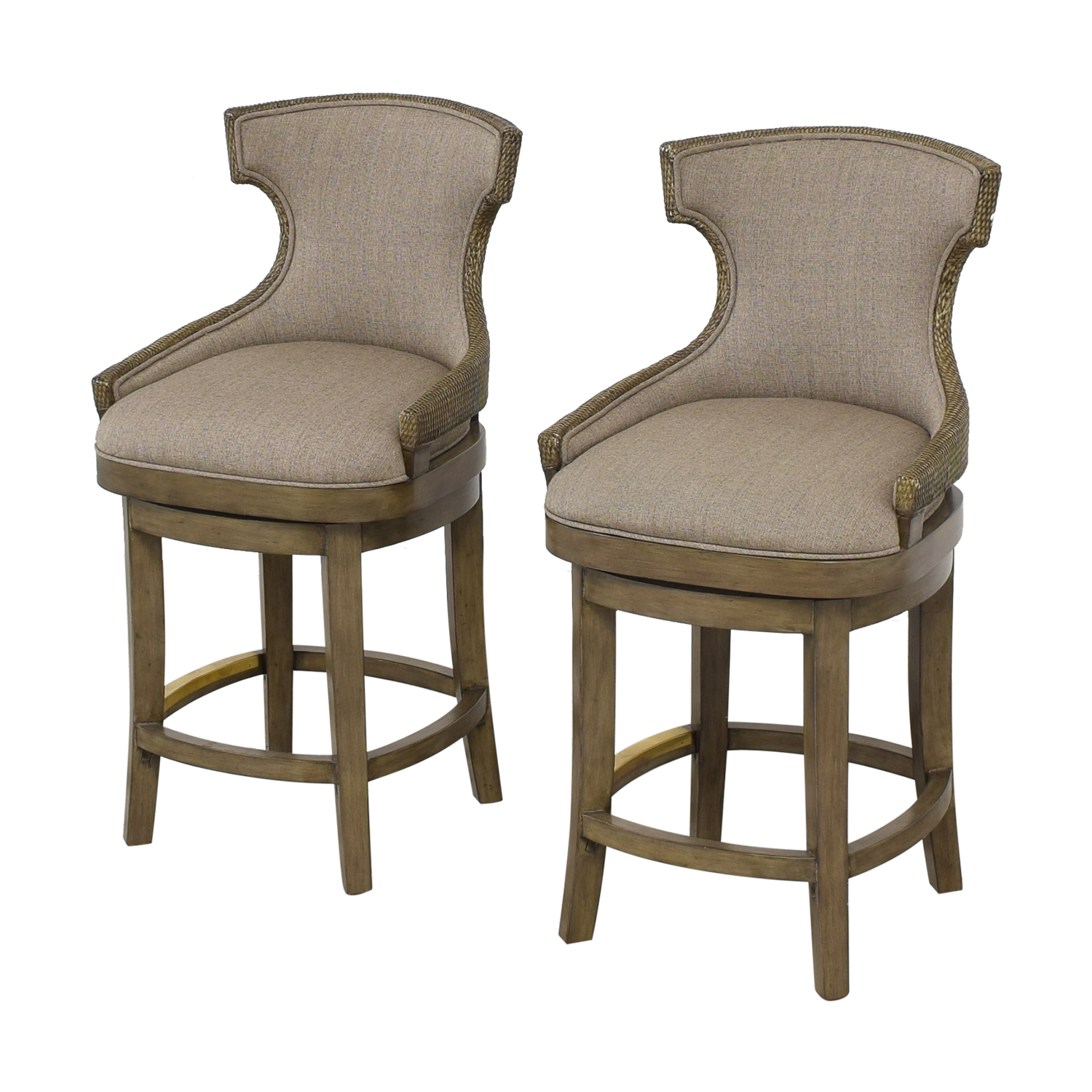 PI Inc Upholstered Swivel Bar Stools sale