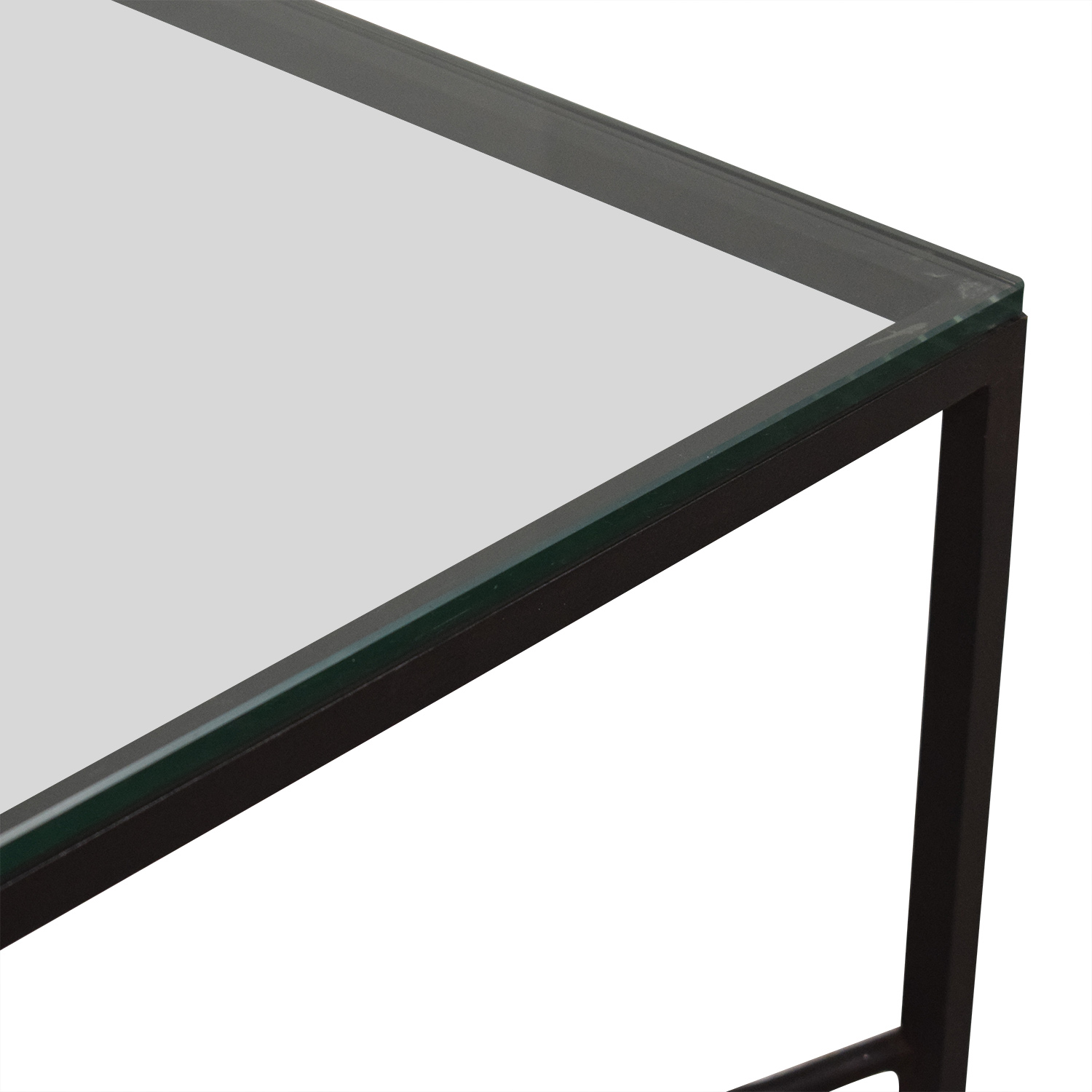 Crate & Barrel Crate & Barrel Glass Top Coffee Table second hand