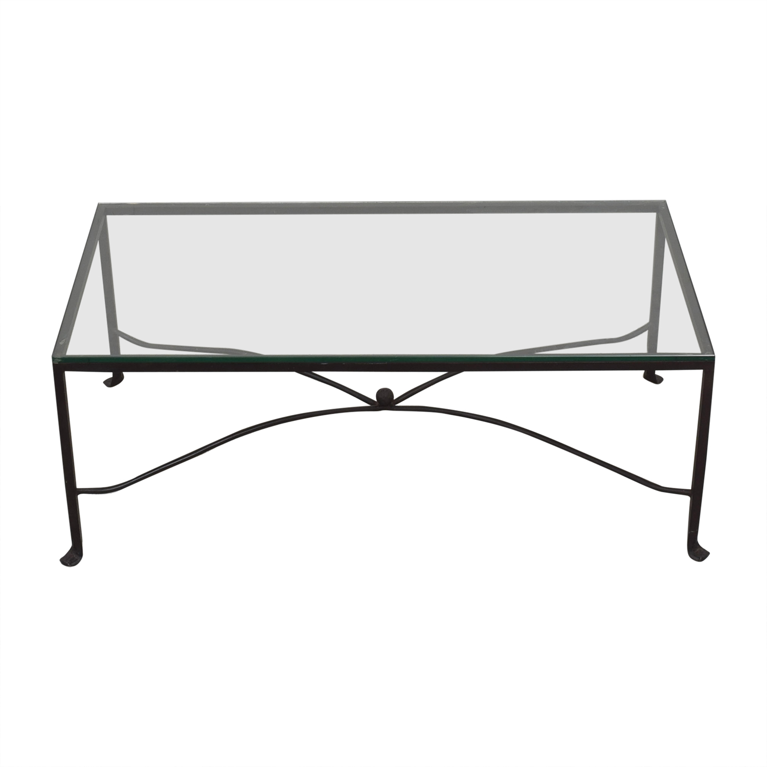 Crate & Barrel Crate & Barrel Glass Top Coffee Table for sale
