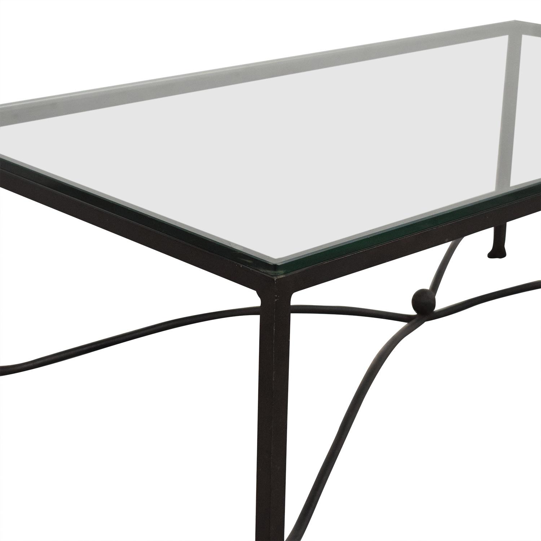 Crate & Barrel Crate & Barrel Glass Top Coffee Table discount