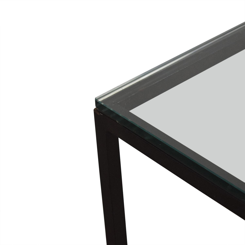 shop Crate & Barrel Crate & Barrel Glass Top Coffee Table online