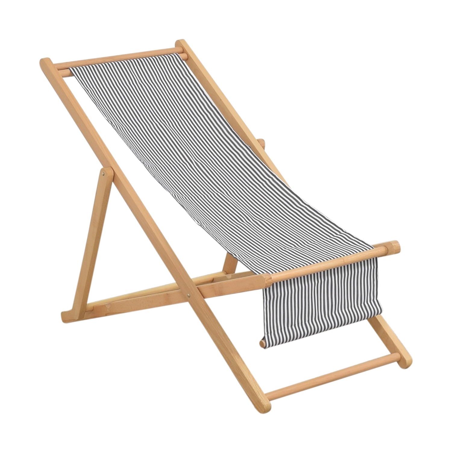 The Inside The Inside Cabana Chair with Sling blue, white and light brown