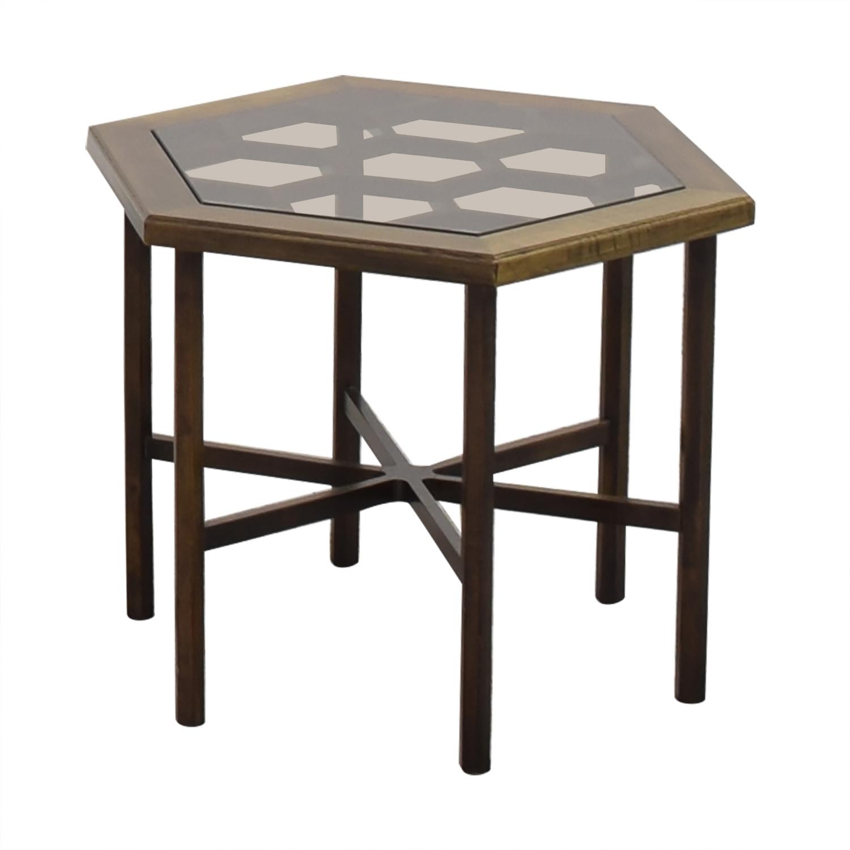 John Widdicomb Hexagonal Side Table / End Tables