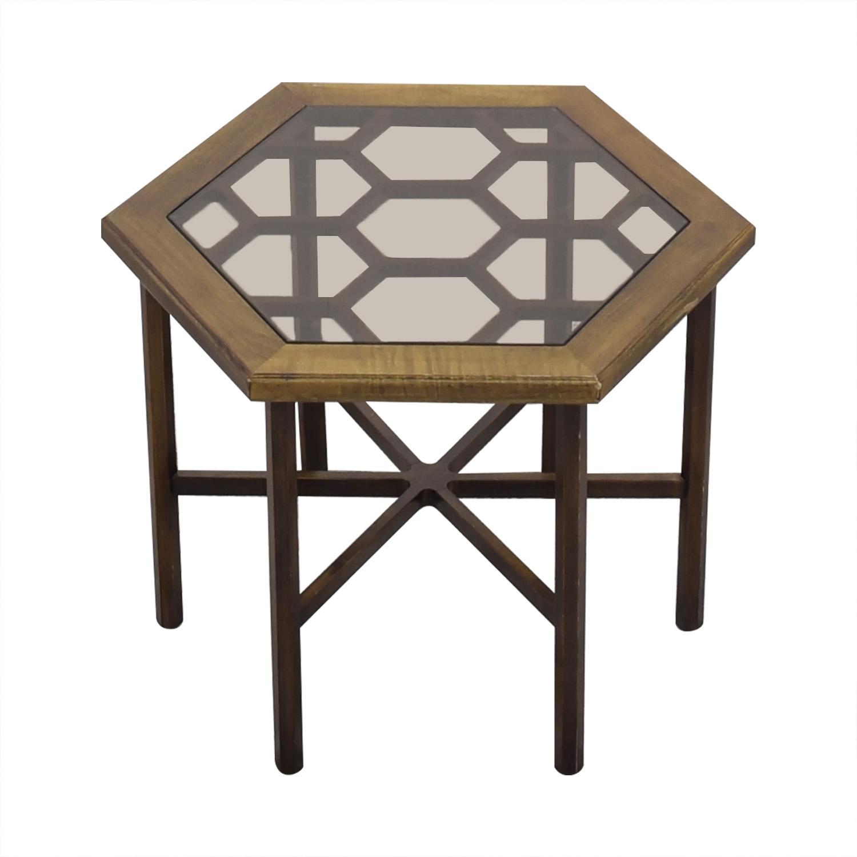 buy John Widdicomb Hexagonal Side Table John Widdicomb Co.