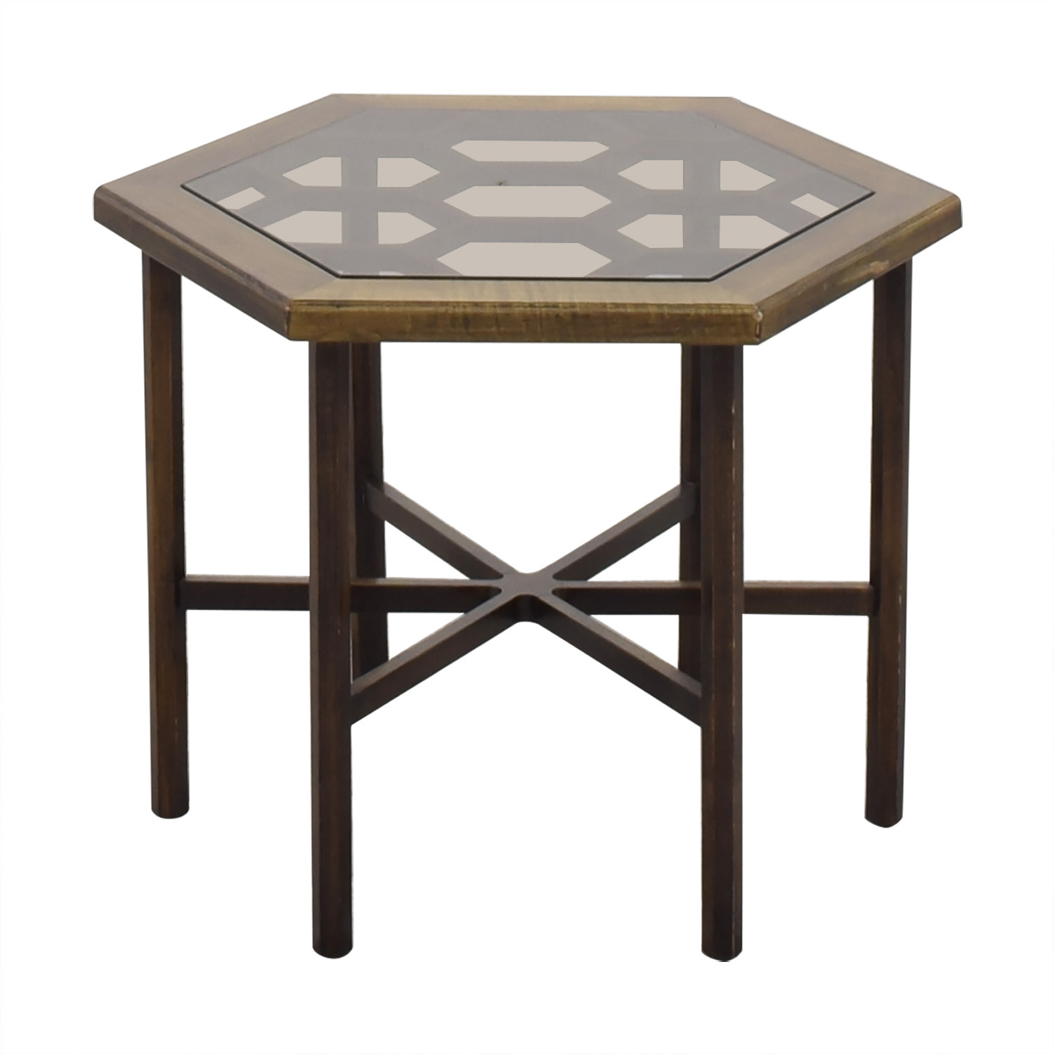 John Widdicomb Co. John Widdicomb Hexagonal Side Table nyc