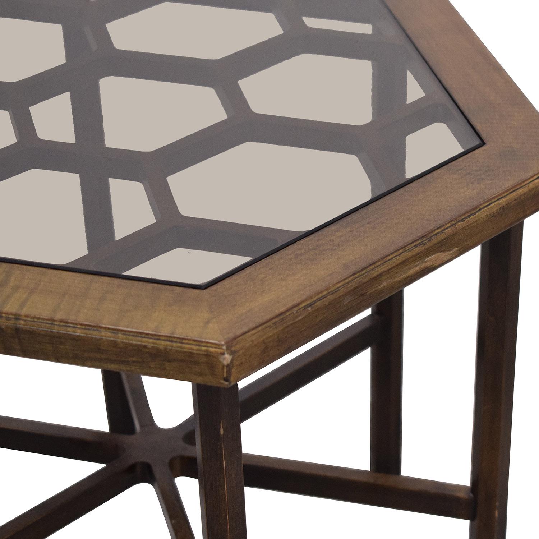 John Widdicomb Co. John Widdicomb Hexagonal Side Table pa