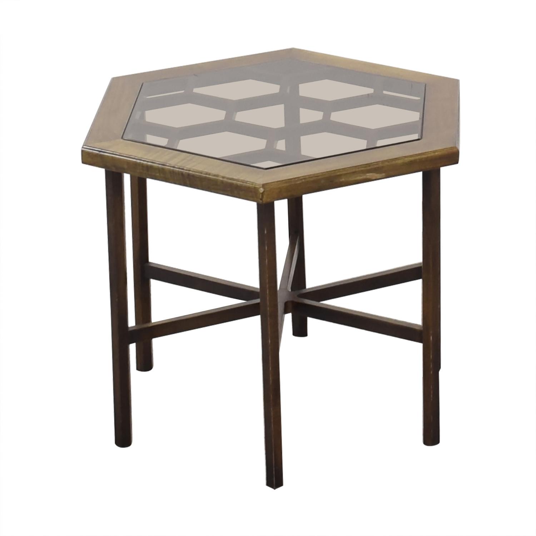 John Widdicomb Hexagonal Side Table / Tables