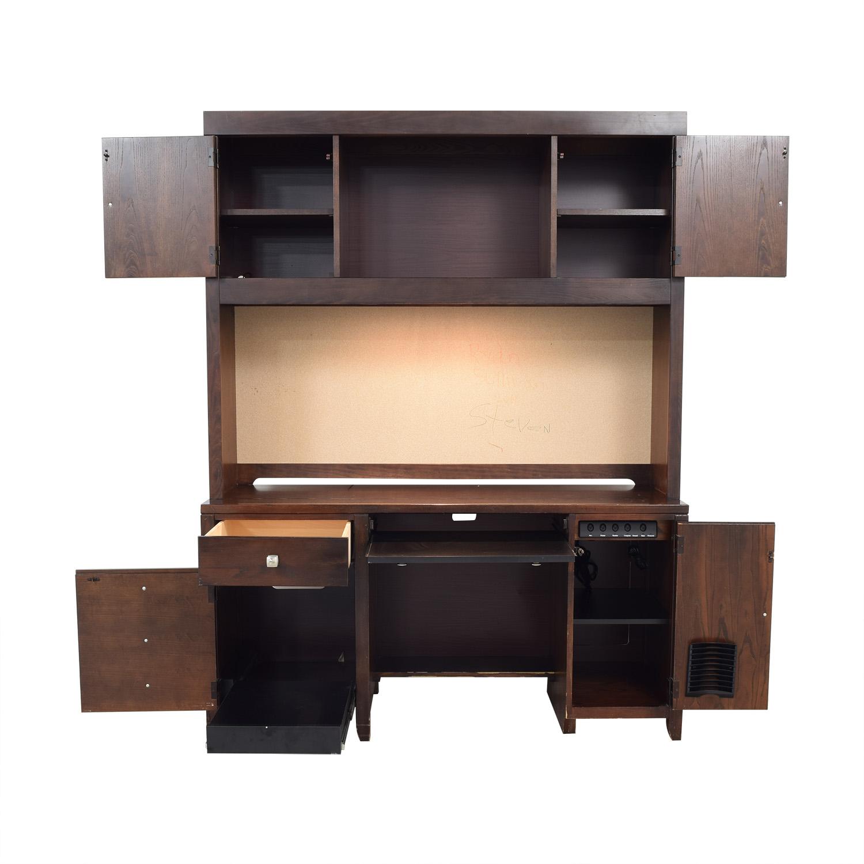 shop Stanley Furniture Desk with Cabinet Stanley Furniture
