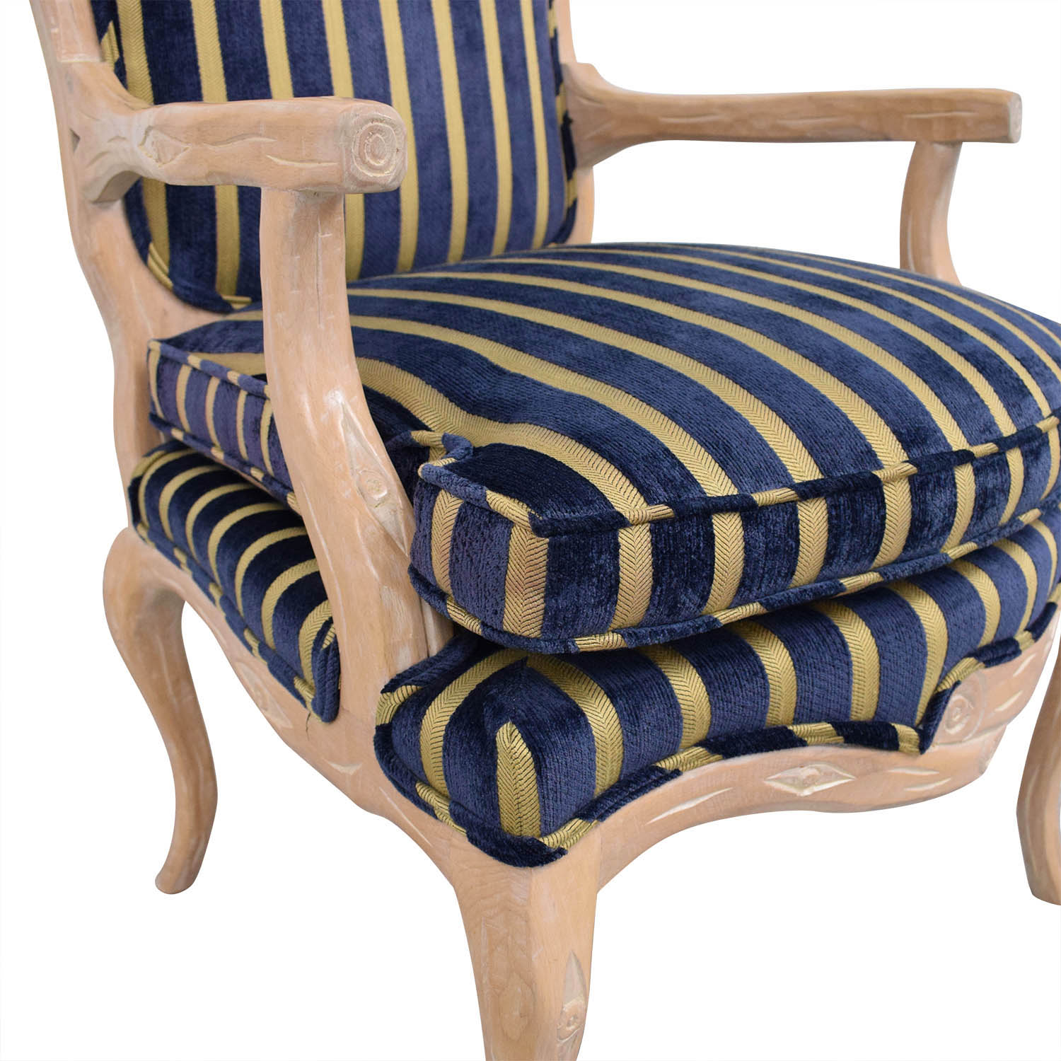 buy Stripe Upholstered Arm Chair  Chairs