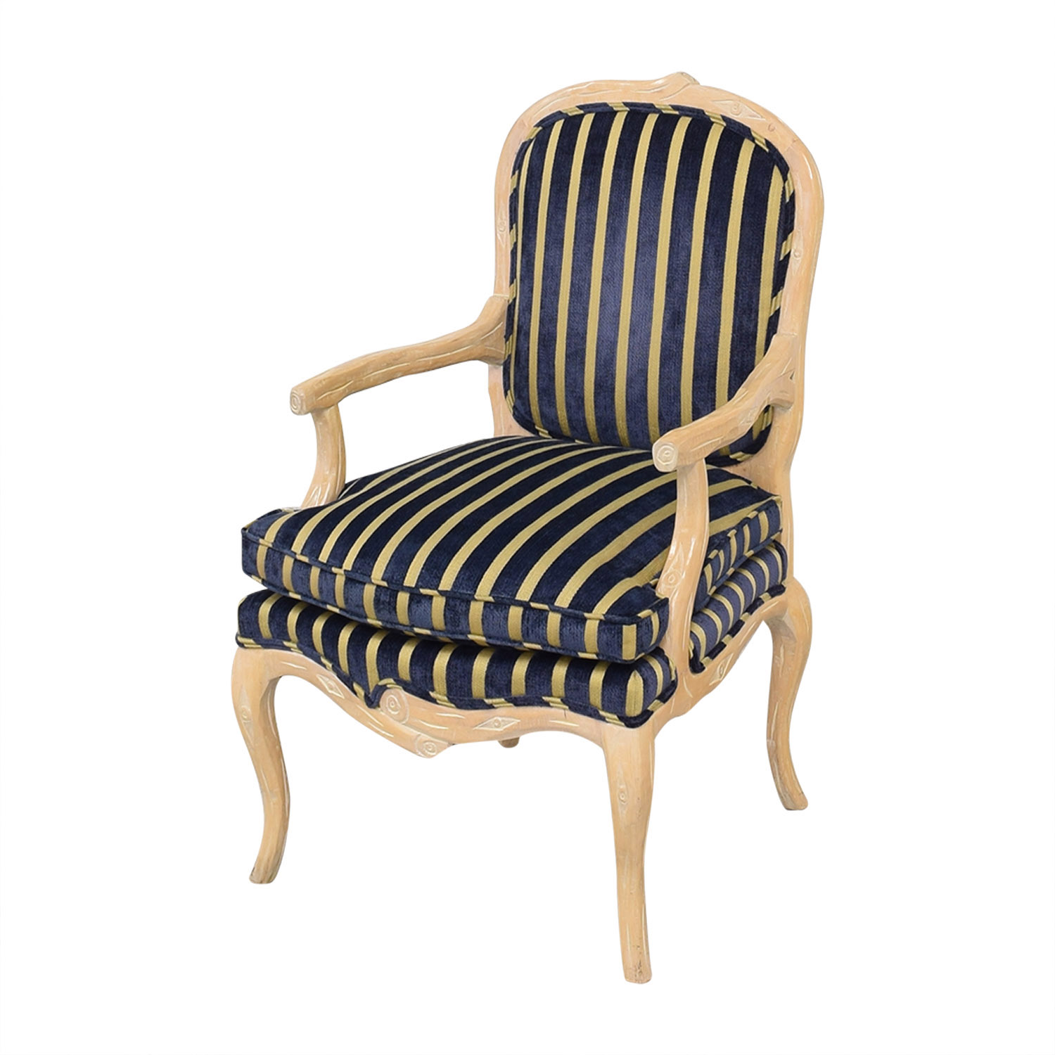 shop Stripe Upholstered Arm Chair  Dining Chairs