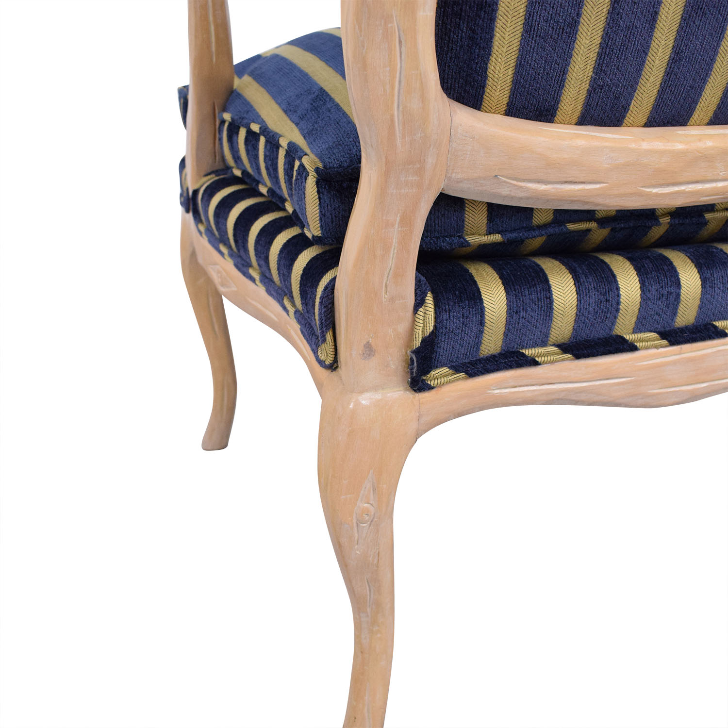 Stripe Upholstered Arm Chair price