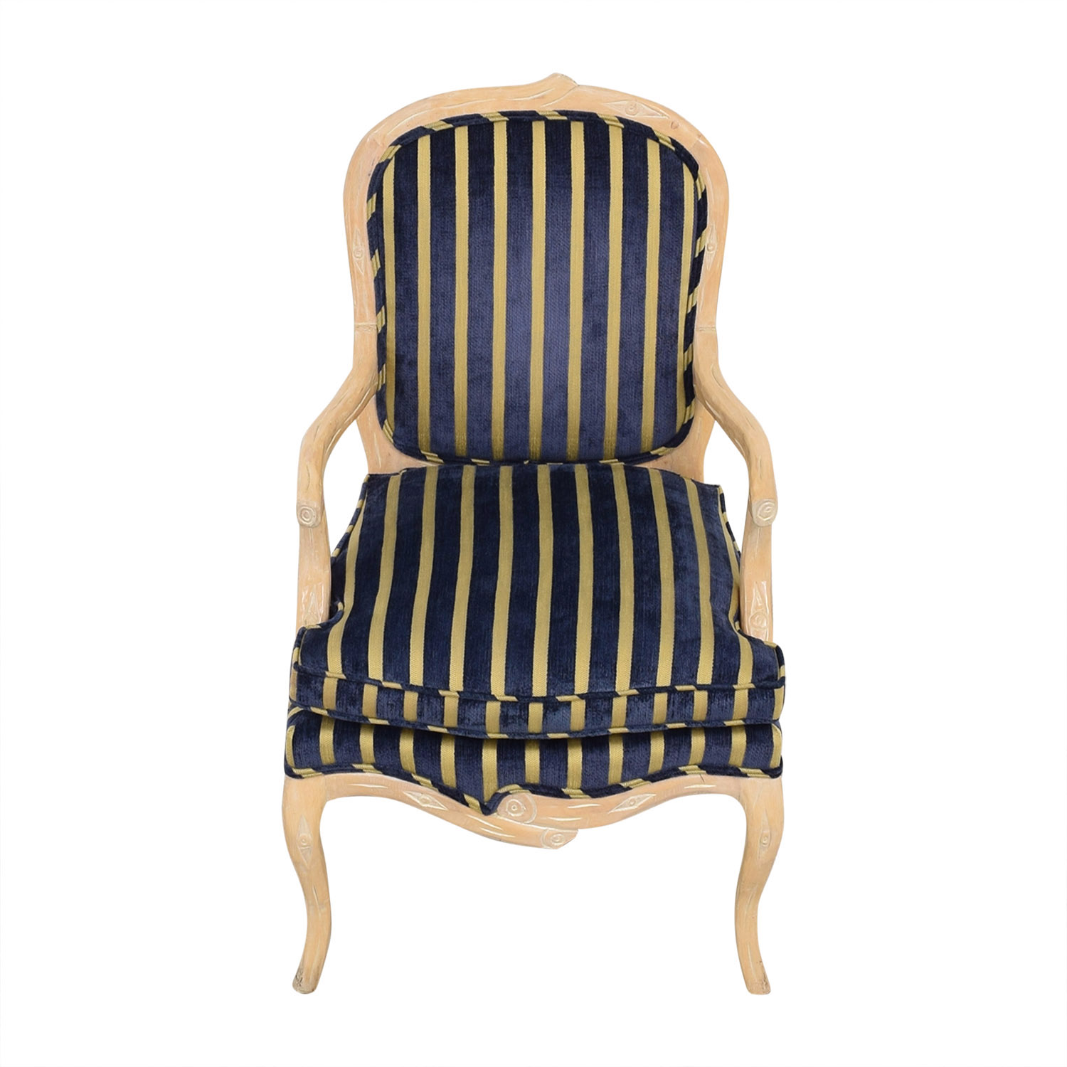Stripe Upholstered Arm Chair ma