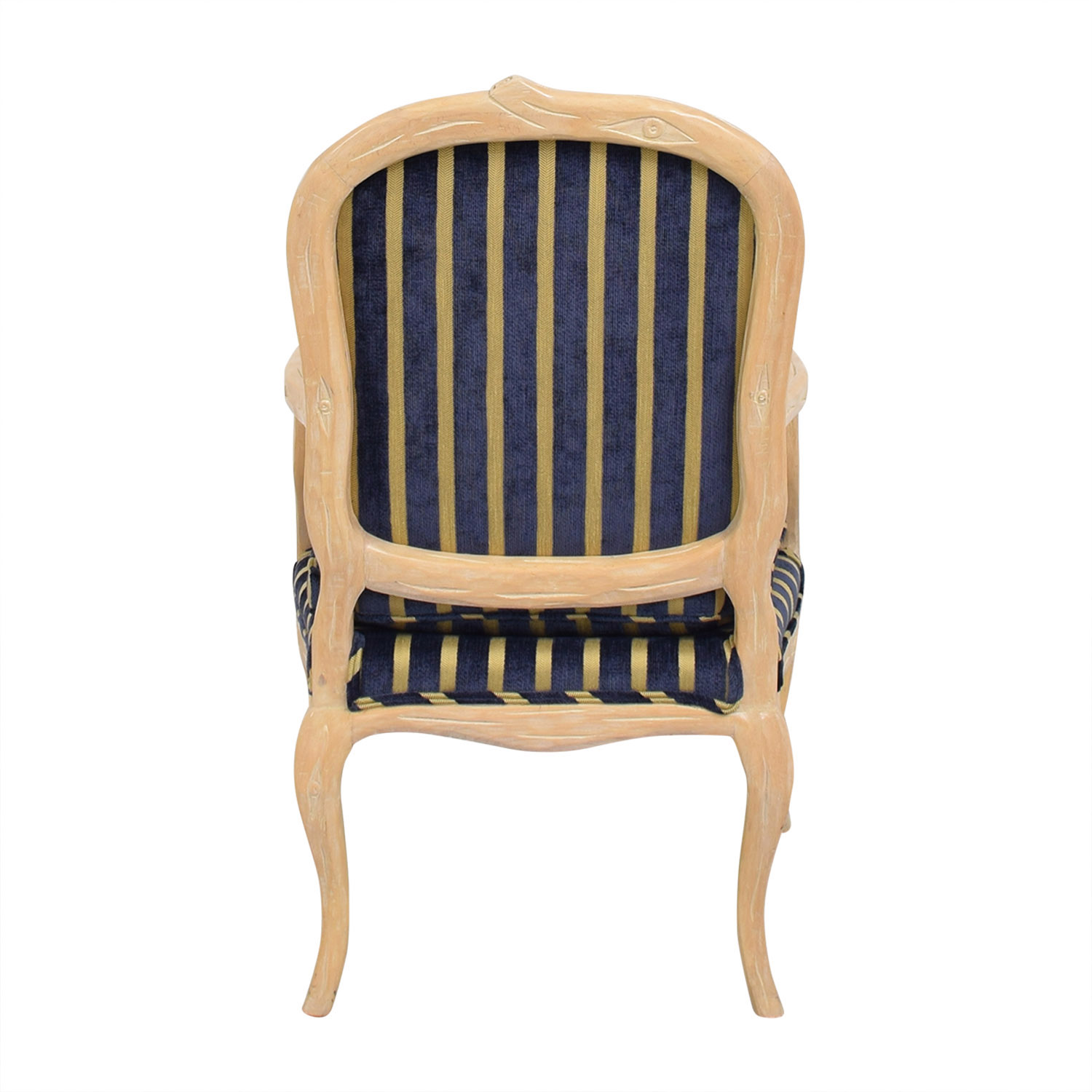 Stripe Upholstered Arm Chair second hand