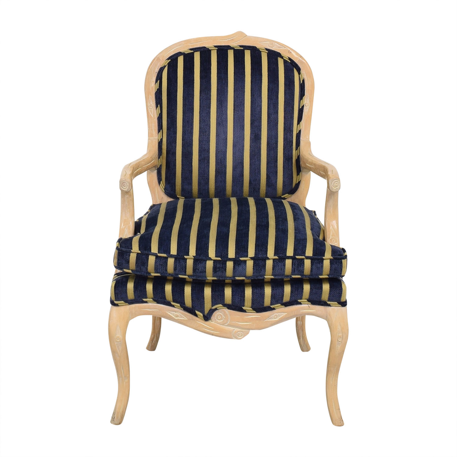 Stripe Upholstered Arm Chair sale