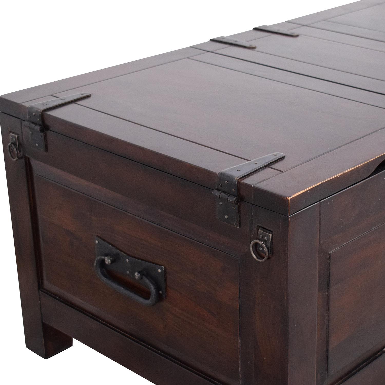 Crate & Barrel Crate & Barrel Storage Coffee Table Trunk pa