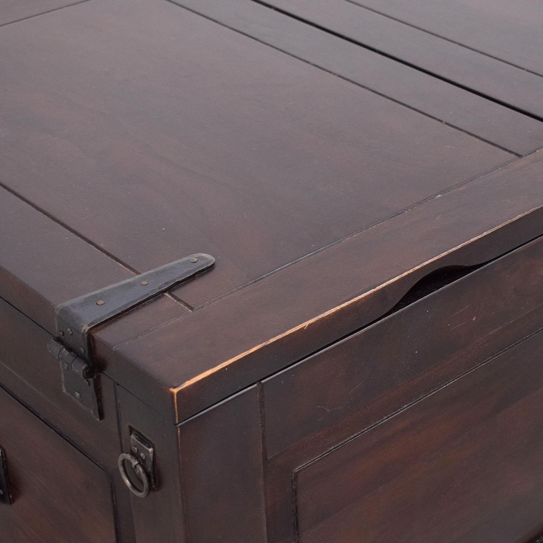 shop Crate & Barrel Storage Coffee Table Trunk Crate & Barrel