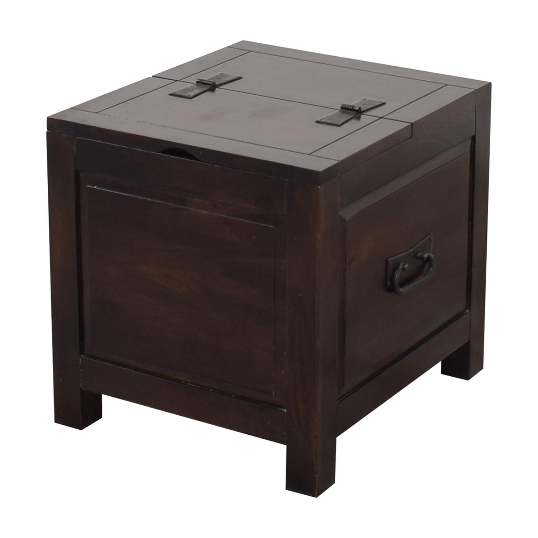 Crate & Barrel Crate & Barrel Side Trunk dark brown