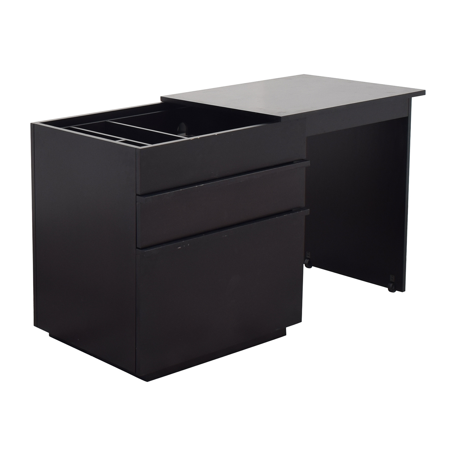 shop Crate & Barrel Roll Out Desk Crate & Barrel