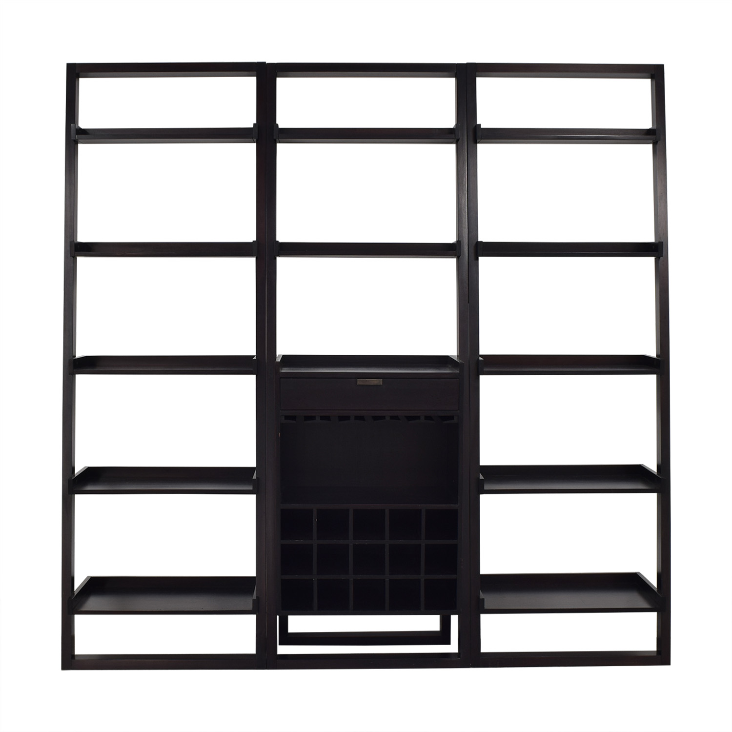buy Crate & Barrel Crate & Barrel Sloane Leaning Bookcases with Bar online