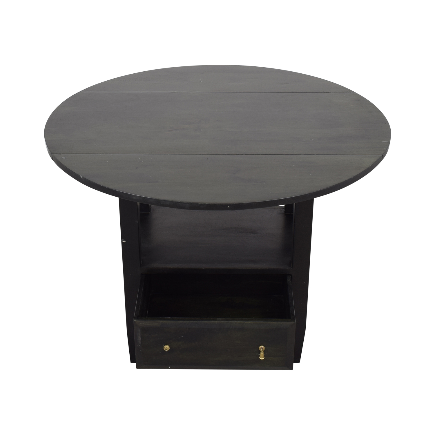 buy Crate & Barrel Crate & Barrel Drop Leaf Counter Table with Storage online