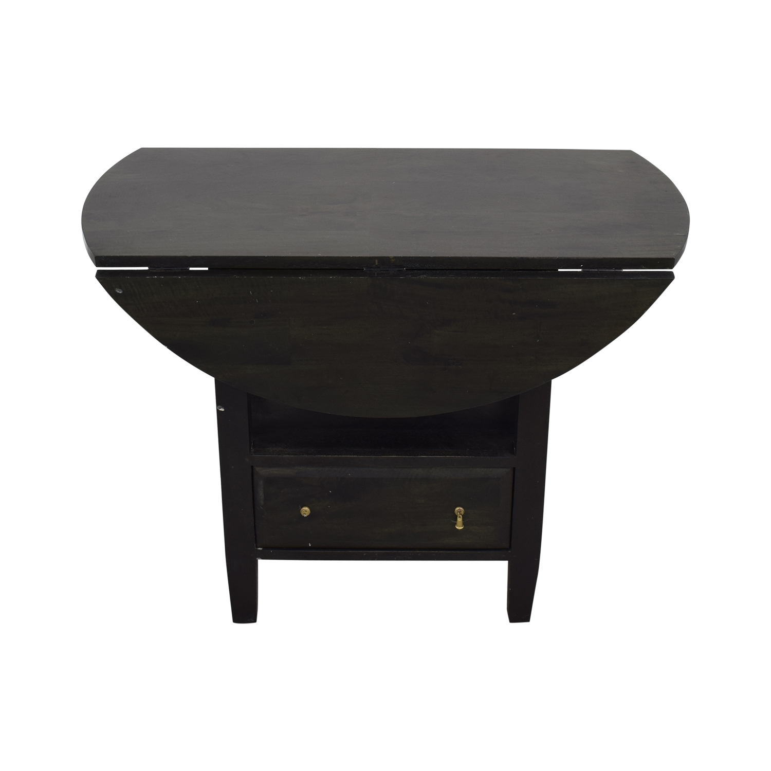 Crate & Barrel Drop Leaf Counter Table with Storage sale