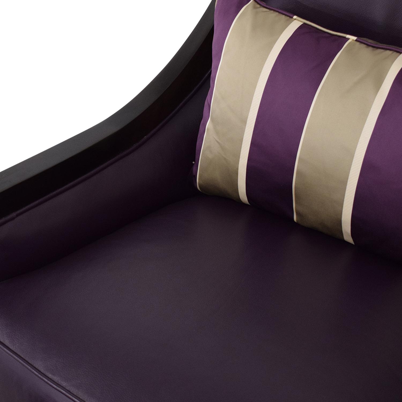 Swaim Swaim Bogart Accent Chair with Ottoman purple and grey