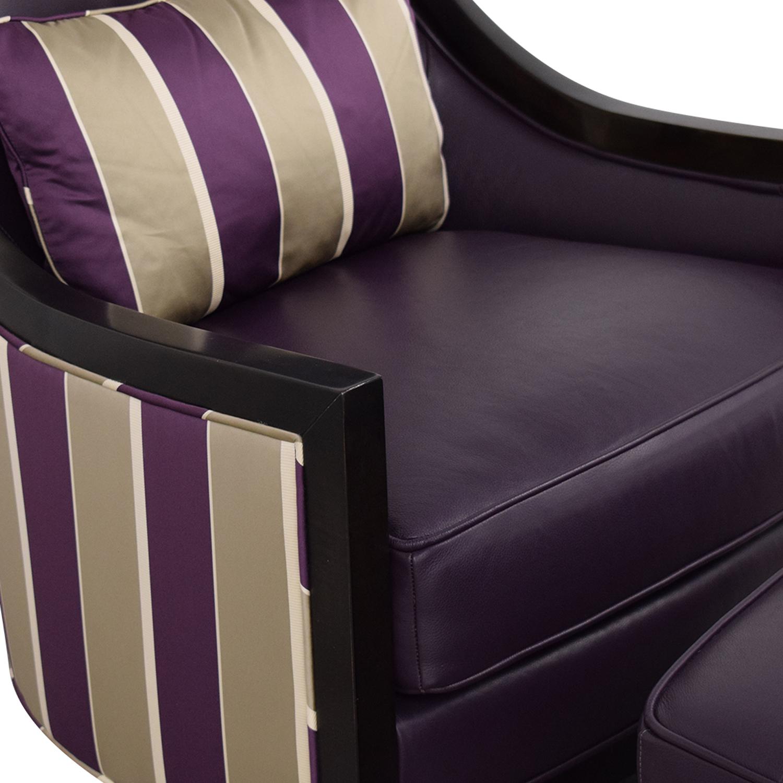 Swaim Swaim Bogart Accent Chair with Ottoman on sale