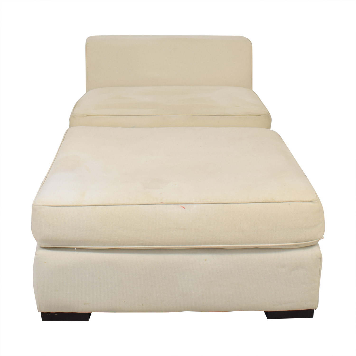 buy West Elm Slipper Chair and Ottoman West Elm Chairs