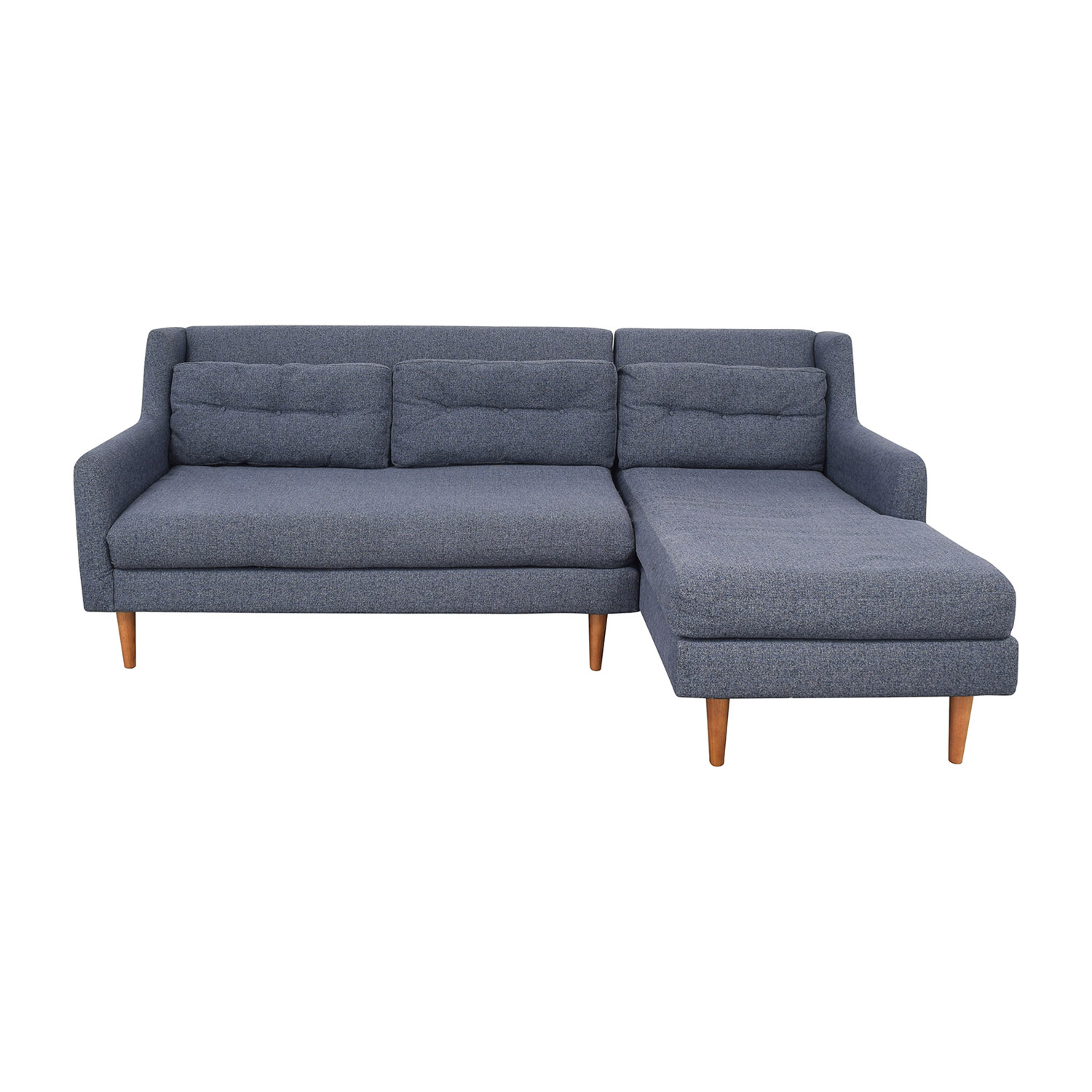 23 Off West Elm Crosby Mid Century 2 Piece Chaise Sectional Sofas