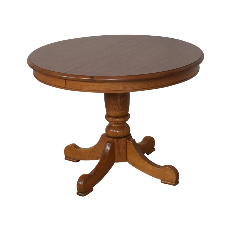 buy Tell City Tell City Dining Room Oak Pedestal Table online