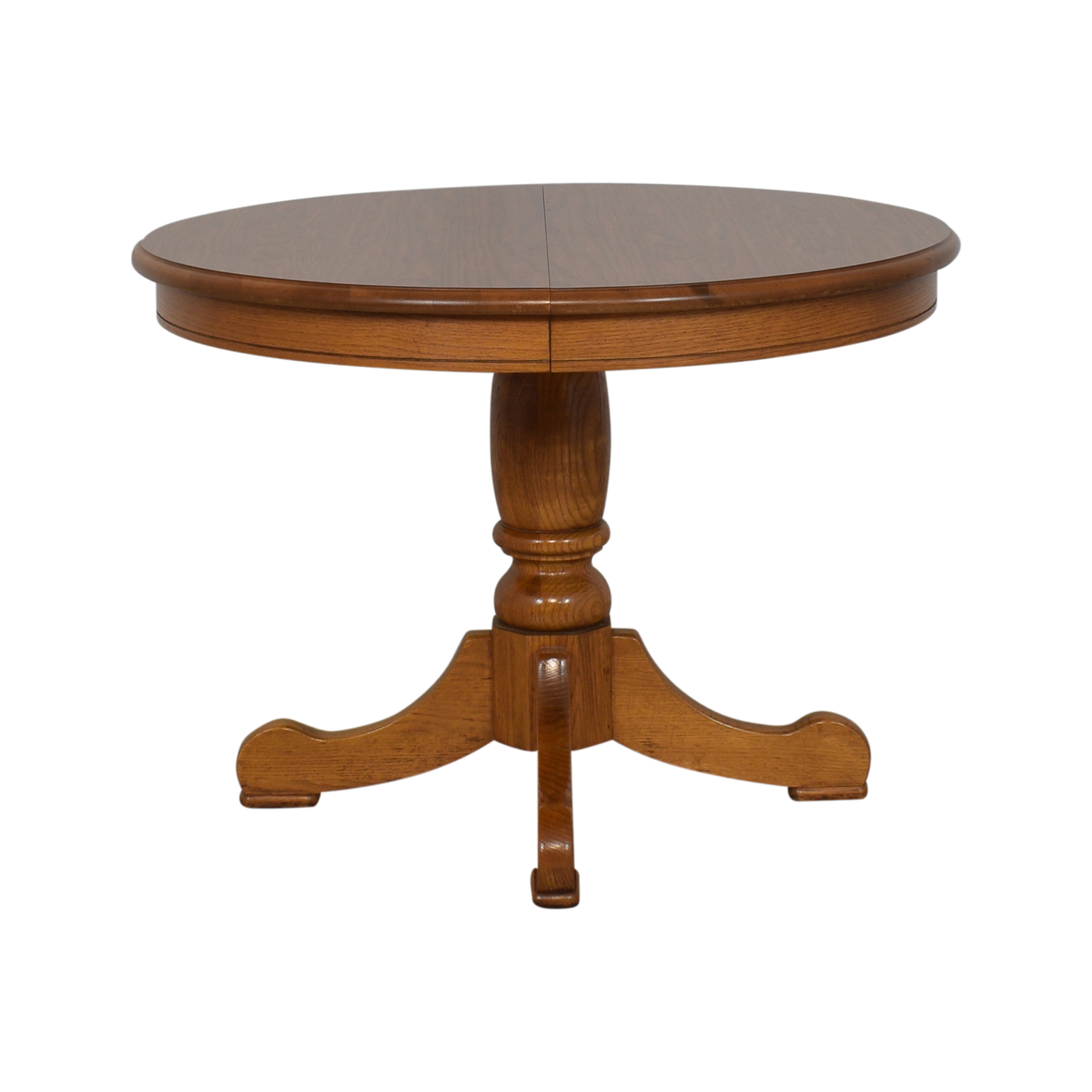 shop Tell City Dining Room Oak Pedestal Table Tell City Dinner Tables