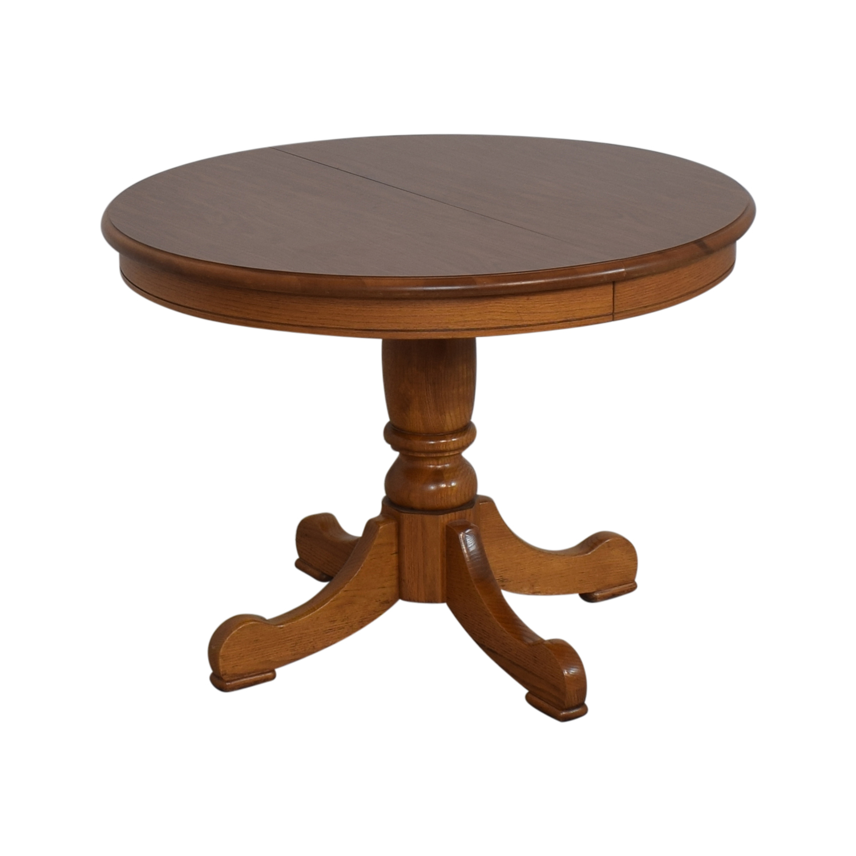 buy Tell City Dining Room Oak Pedestal Table Tell City Tables