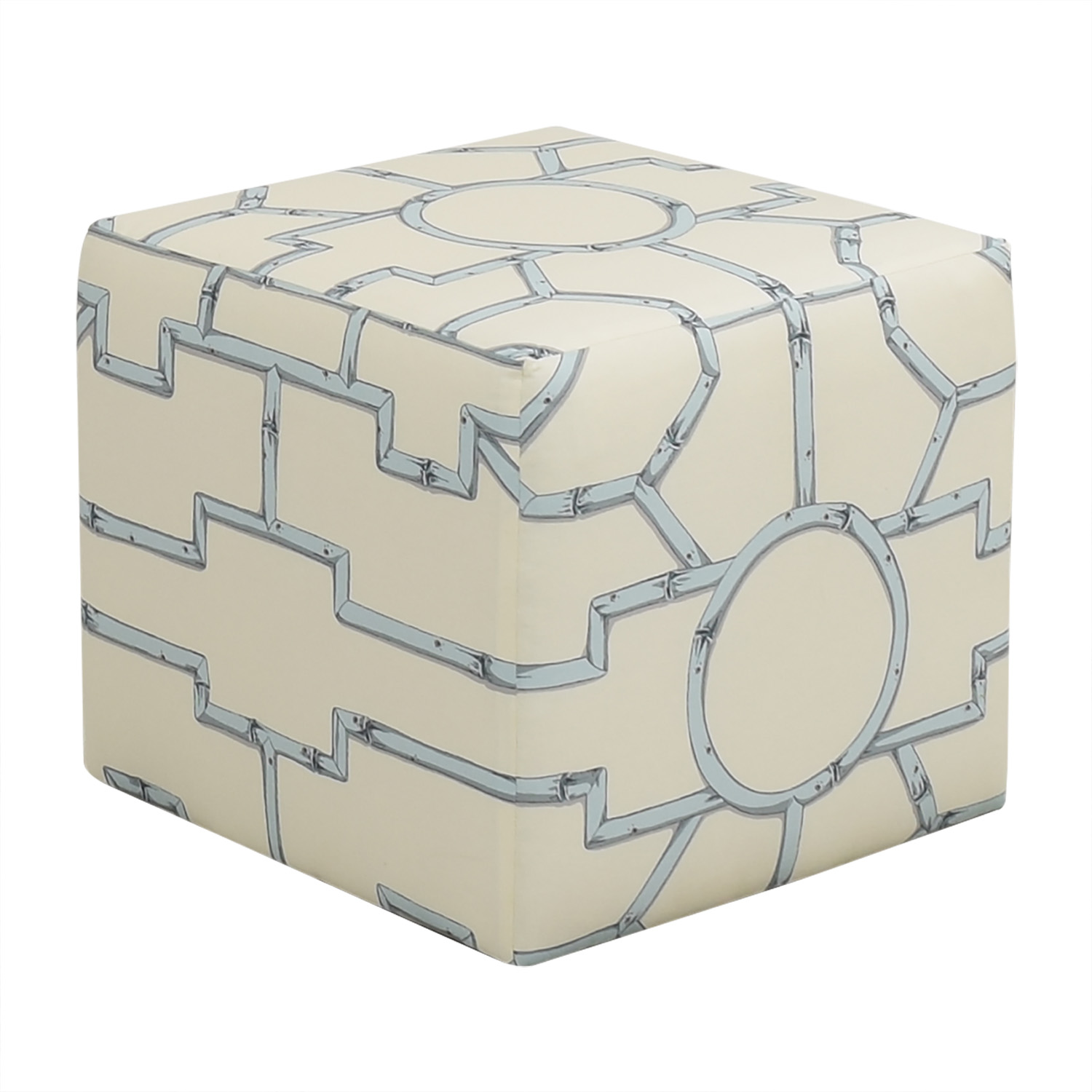 The Inside The Inside Blue Baldwin Cube Ottoman used