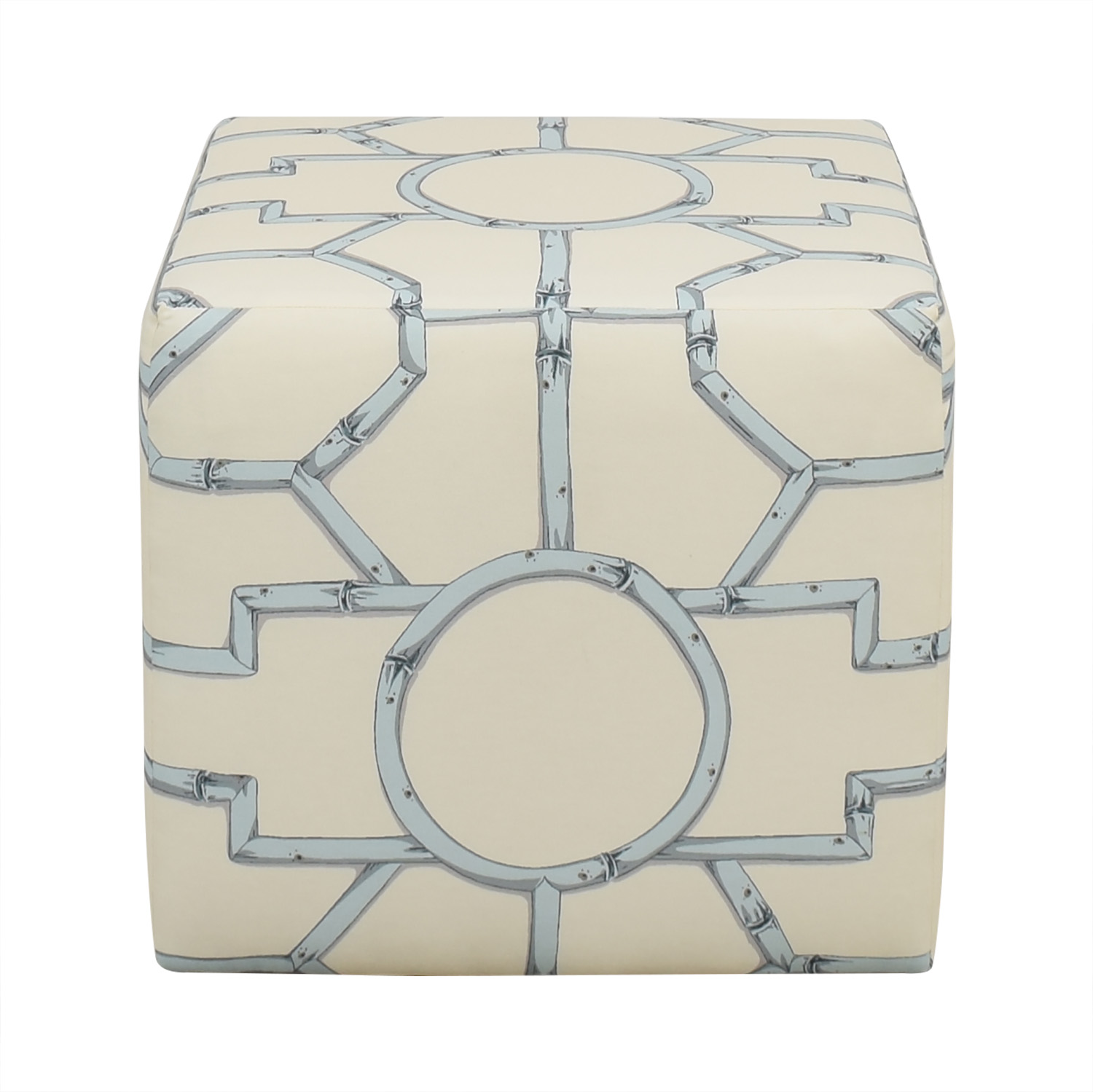 buy The Inside Blue Baldwin Cube Ottoman The Inside Ottomans
