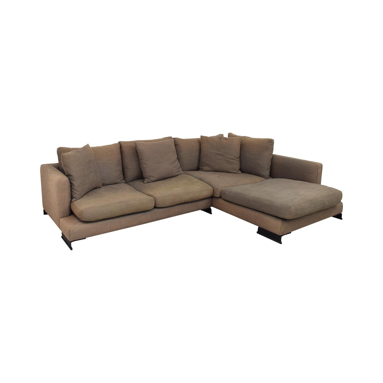 Camerich Camerich Lazy Time Custom Sectional Sofa dark brown