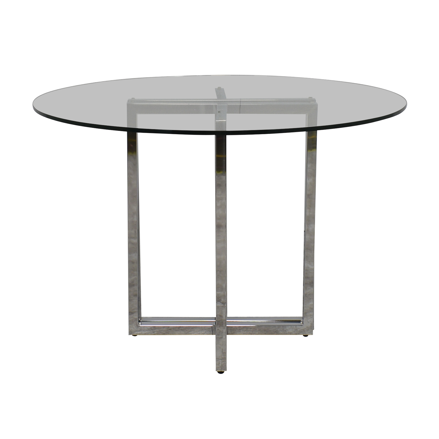 buy CB2 Silverado Chrome Glass Table CB2