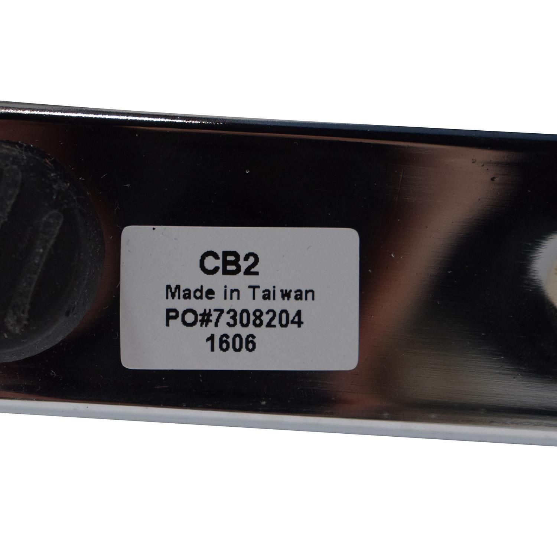 CB2 Silverado Chrome Glass Table CB2