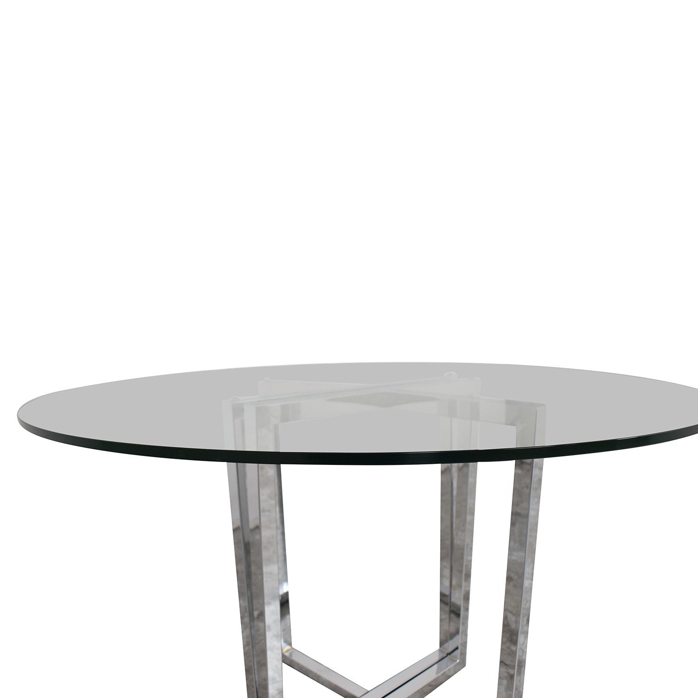 CB2 CB2 Silverado Chrome Glass Table used