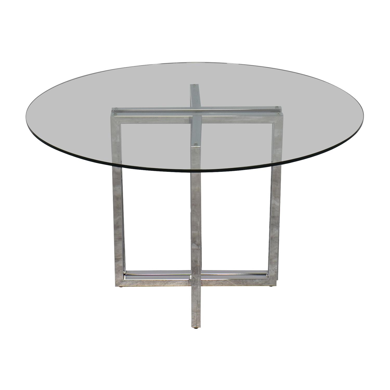 buy CB2 Silverado Chrome Glass Table CB2