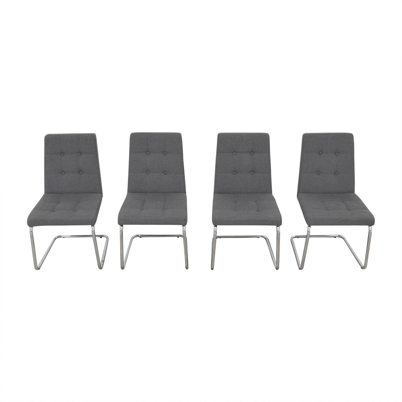 shop CB2 Roya Grey Chairs CB2