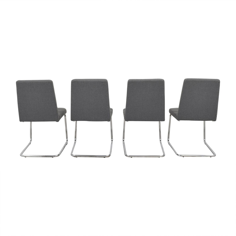 CB2 Roya Grey Chairs / Dining Chairs
