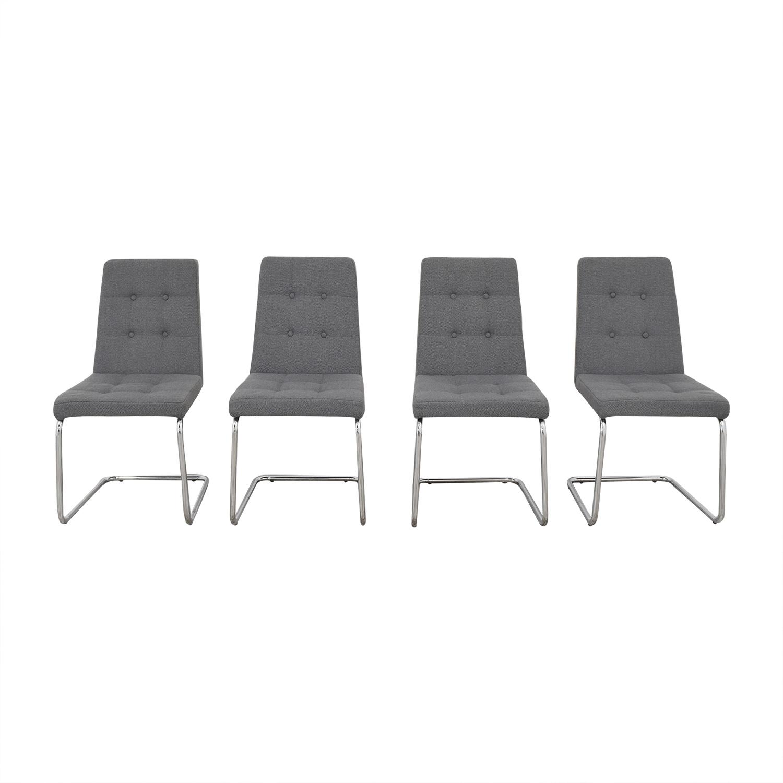 CB2 CB2 Roya Grey Chairs Chairs