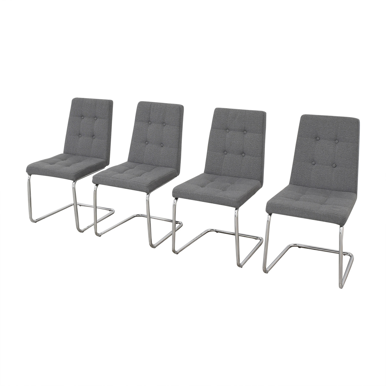 buy CB2 Roya Grey Chairs CB2 Chairs