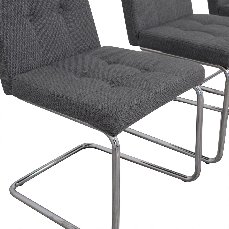 CB2 CB2 Roya Grey Chairs used
