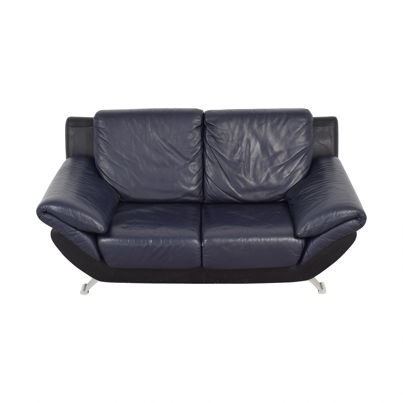 Two Seat Loveseat blue & black