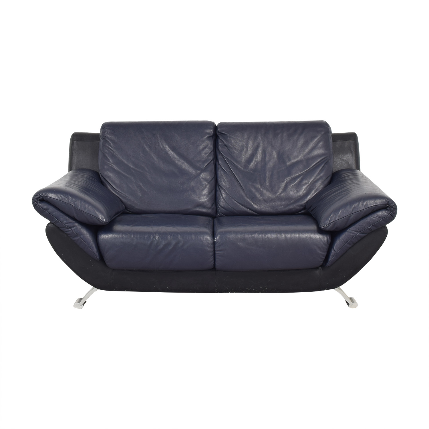 Two Seat Loveseat blue & black