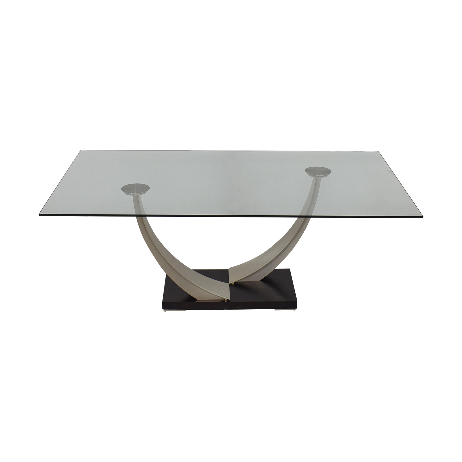 Modern Glass Top Dining Table coupon