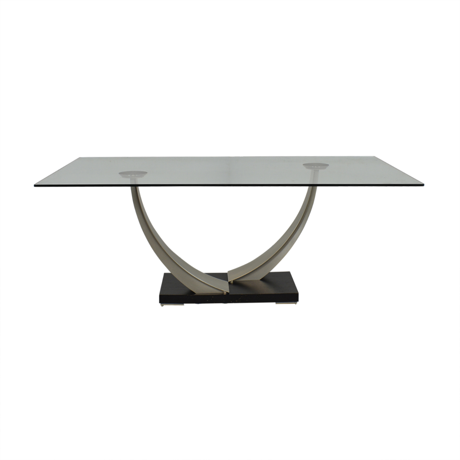 Modern Glass Top Dining Table / Tables