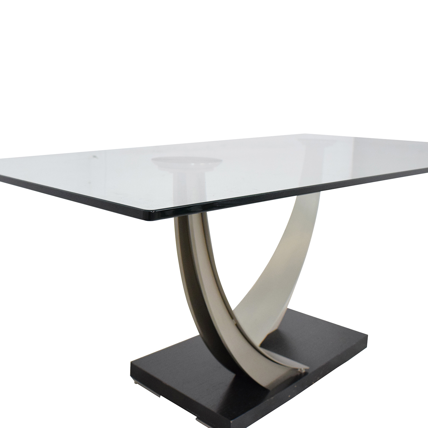 Modern Glass Top Dining Table on sale